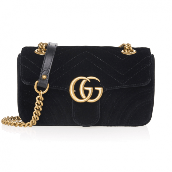 2067c65be4db Gucci - GG Marmont Black Velvet Bag