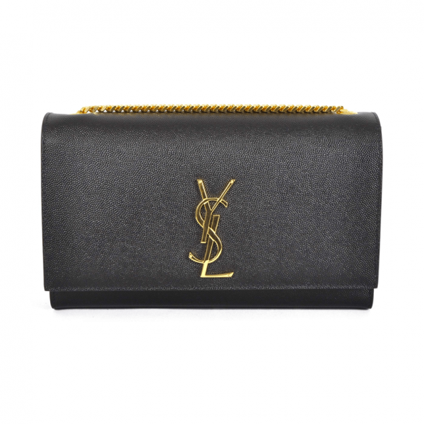 9728f1ab83a6 Yves Saint Laurent - Medium Kate Chain Bag in Black Textured Leather ...