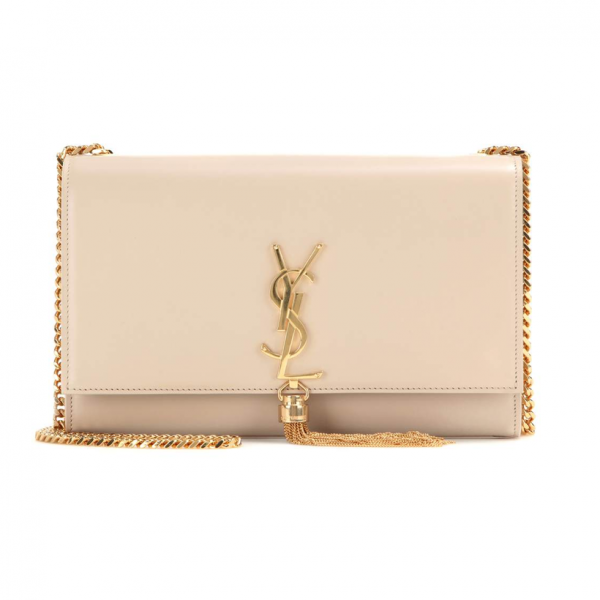 9513fe313116 Yves Saint Laurent - Medium Kate Tassel Chain Bag in Nude Powder Leather