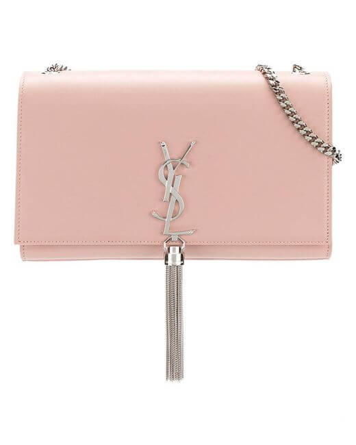 Yves Saint Laurent - Medium Kate Tassel Chain Bag in Pink Powder Leather  0b37691c29dd0